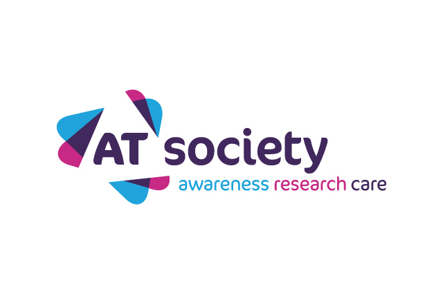 AT Society branding, identity logo design. Charity brand identity. Brand design by Gosling produced for the AT Society.