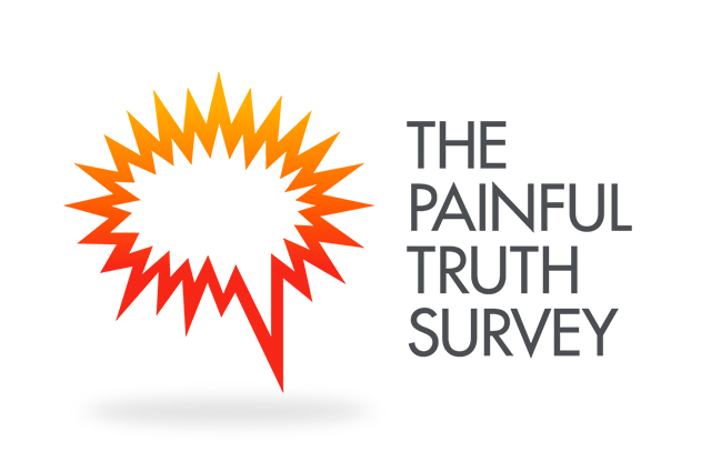 Boston Scientific The Painful Truth Survey logo. Identity design by Gosling produced for Boston Scientific EU.