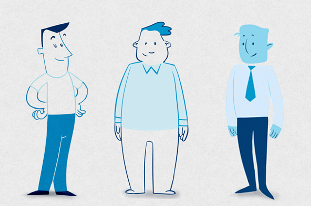Product marketing campaign animation characters. Digital marketing designed by Gosling for Boston Scientific.