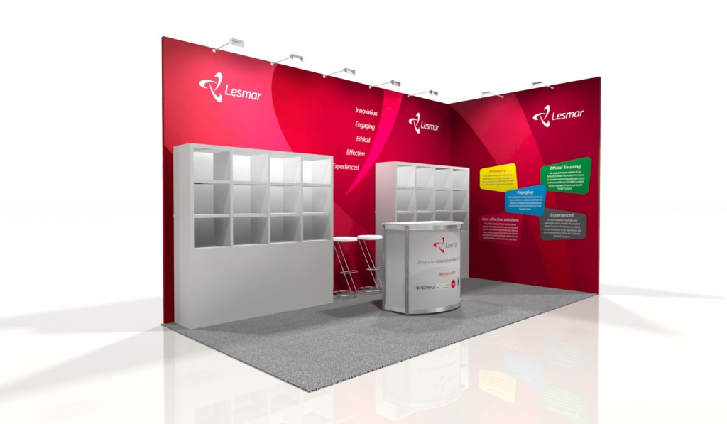 Branded Exhibition Stand Design, Gosling Design for Lesmar at Marketing Week Live 2014