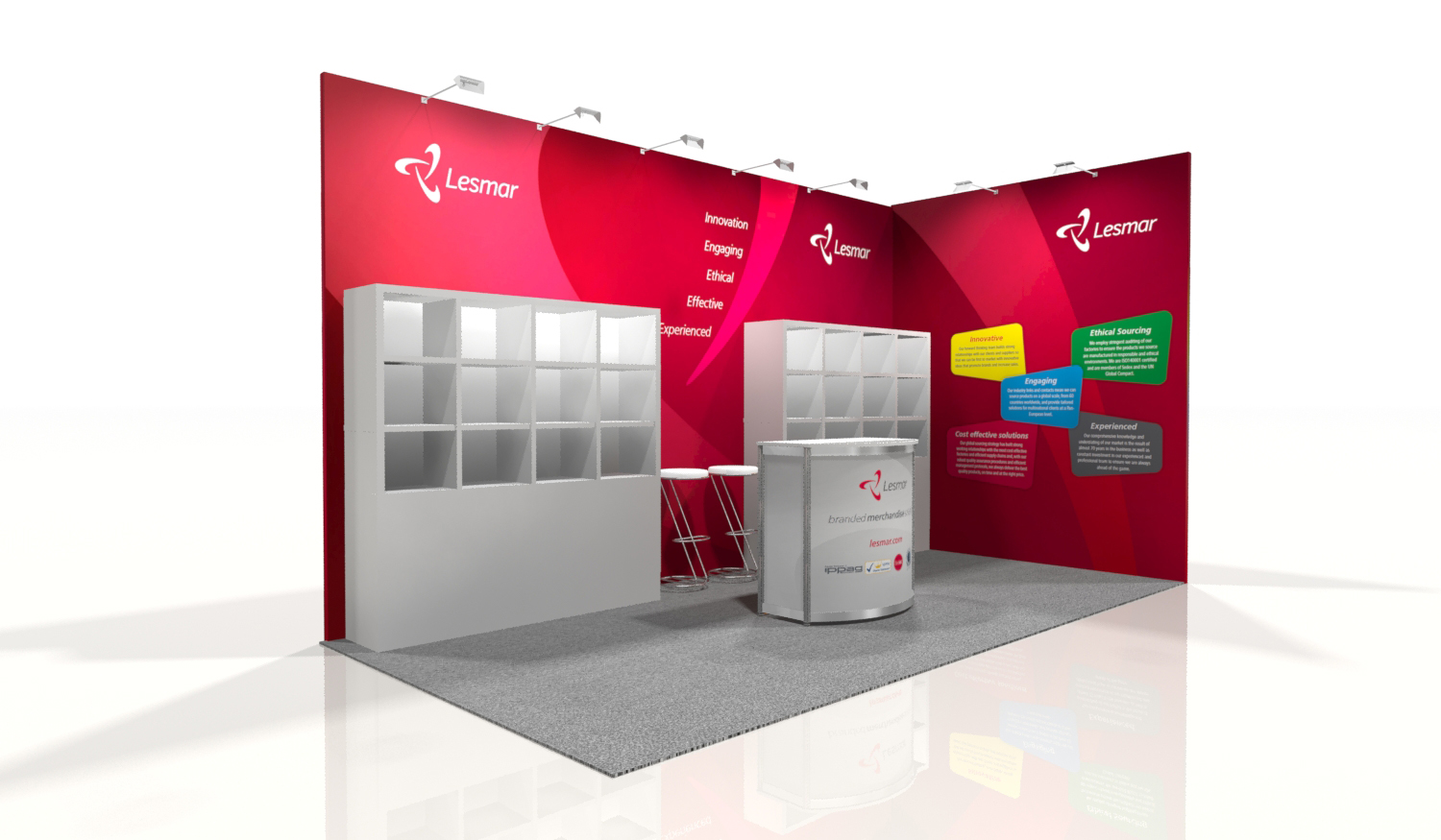 Marketing Exhibition Stand Jobs : Latest design work lesmar stand for marketing week