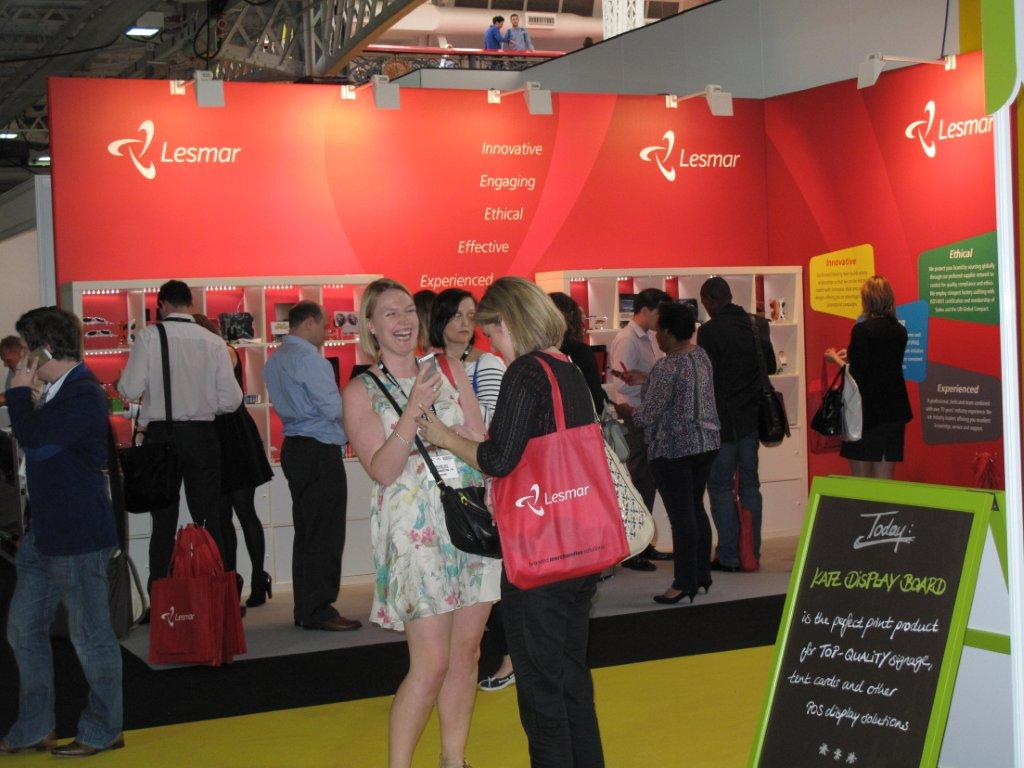So many options, so little time. Our stand design seems to be attracting business for Lesmar at Marketing Week Live.