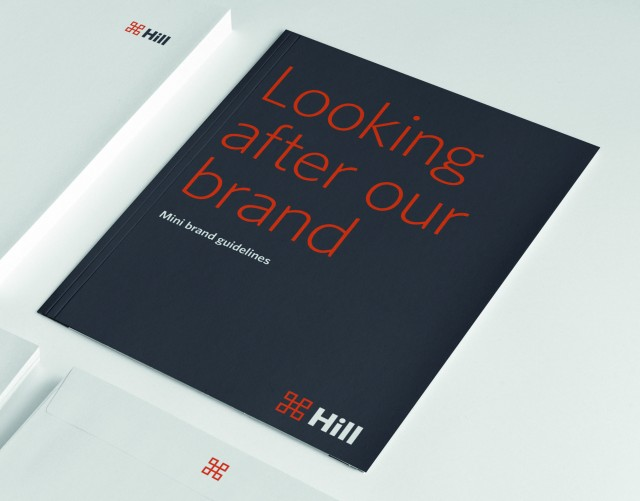 Hill Brand Identity. Brand Guidelines. Brand design by Gosling produced for Hill.