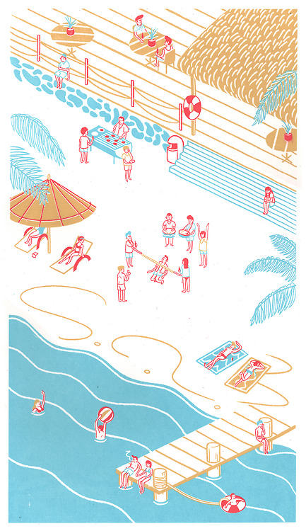 Tim Blann : Beach Party Screen Print