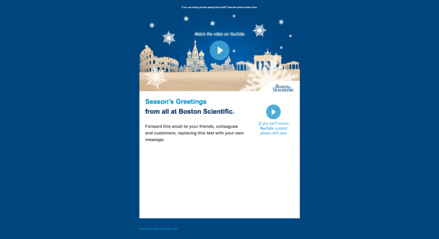 Boston Scientific Europe Seasonal Communication HTML