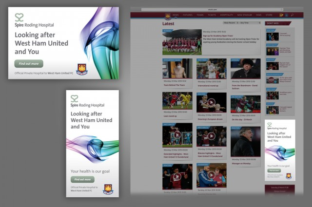 Spire Roding and West Ham United Football Club, campaign, online banners