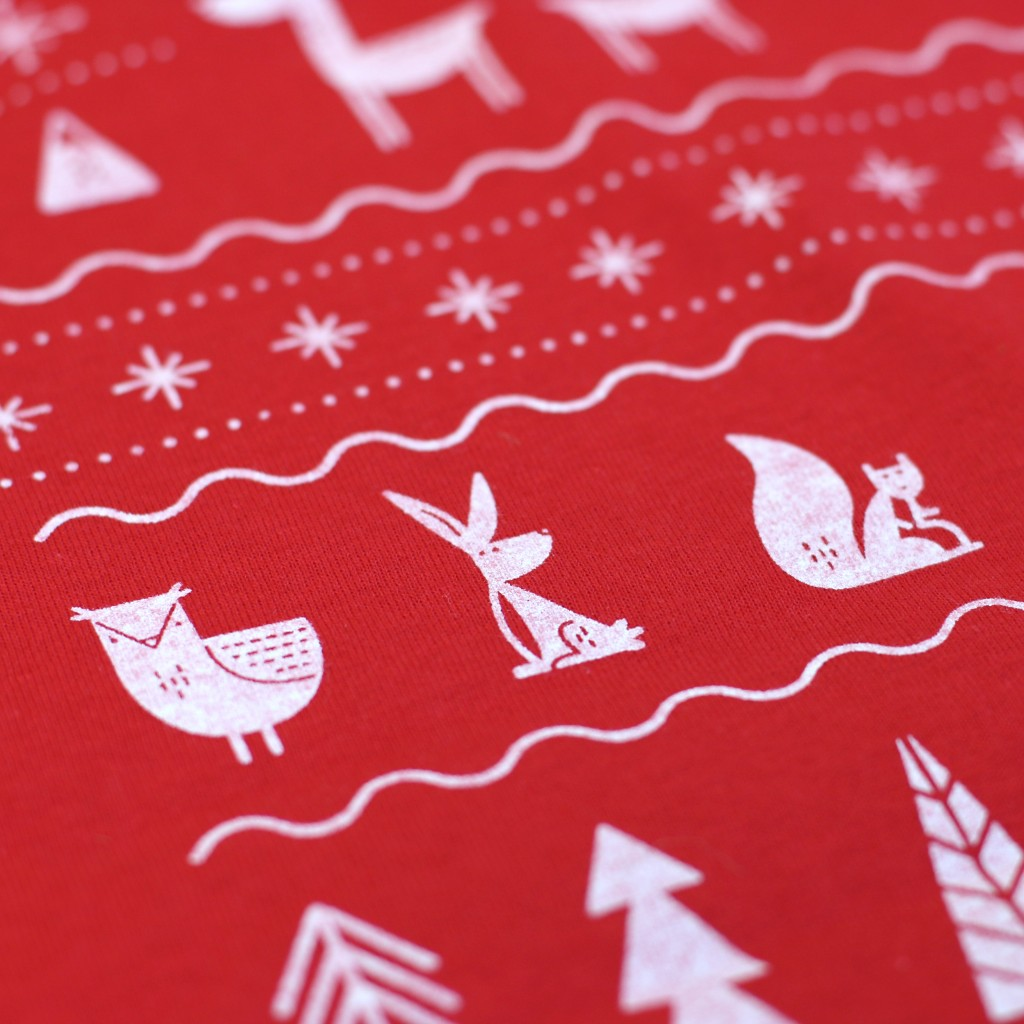 Woodland Christmas t-shirt designed by Josh Hurley at Gosling