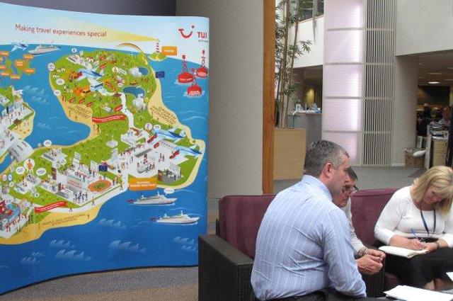 TUI UK & Ireland communication toolkit, team workshop image. Internal communications designed and produced by Gosling for TUI UK & Ireland.