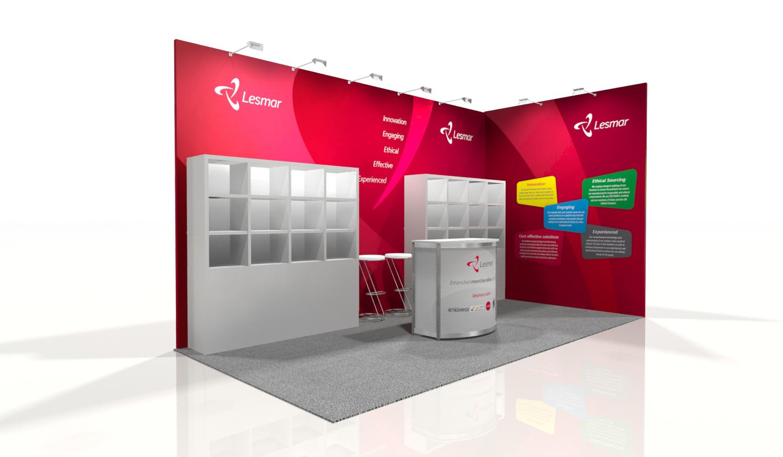 Latest design work: Lesmar Stand Design for Marketing Week Live 2014