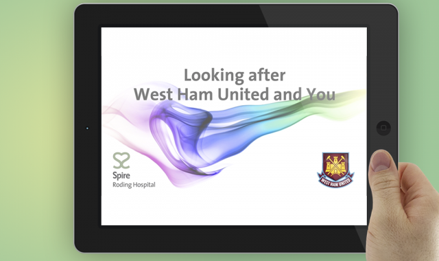 Spire Roding and West Ham United Football Club, campaign, screen still
