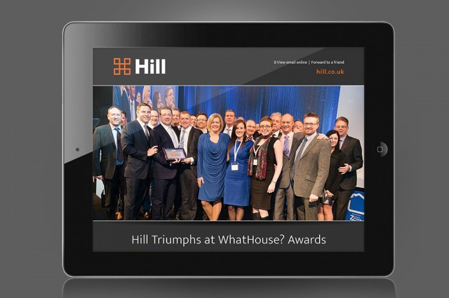 Hill WhatHouse? Awards 2015 HTML email, designed by Gosling